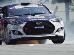 Rhys Millen rips around Washington, D.C. in his Hyundai Veloster Global Rallycross car
