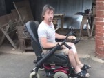 Richard Hammond shows off his modified wheelchair