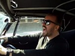 Ricky Gervais is terrified in the passenger seat of a 1967 Austin-Healey 3000