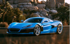 Rimac shows off beautiful blue C_Two California fitted with champagne holders