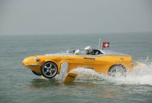 Rinspeed car/hydrofoil crosses English Channel