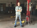 Robert Bollinger on Day One of Bollinger Motors, in empty garage, Hobart, New York, late 2015