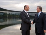 Ron Dennis and Richard Lapthorne at the McLaren Technology Centre