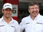 Ross Brawn and Jenson Button
