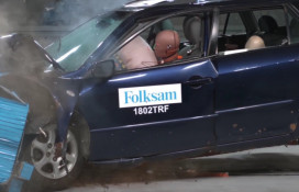 Rusty used Mazda 6 wagon in Swedish crash test