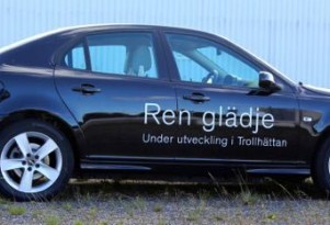 Saab 9-3 EV electric prototype shown by NEVS, 2014