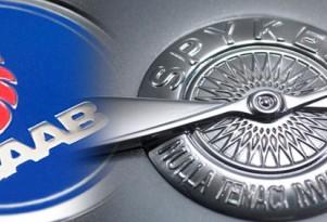 Saab and Spyker logos