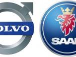 Saab and Volvo logos