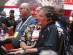 Sam Schmidt listens during SEMA presentation on Advanced Driver Assistance Systems
