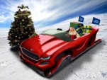 Santa Claus in his Ford Evos-inspired concept sleigh