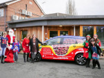 Santa Claus takes to UK streets in all-electric Renault Zoe 'sleigh'