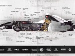 Sauber F1 race car cutaway diagram