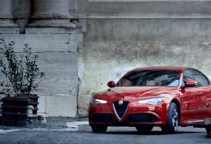 Scene from Alfa Romeo ad aired during Super Bowl LI