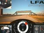 Scott Pruett drives the Lexus LFA at Infineon