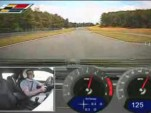 screen capture from lap of Monticello Motor Club track in 2011 Cadillac CTS-V Coupe