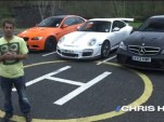 Screencap from Chris Harris' super coupe shootout on Drive