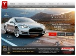 Screencap from Tesla website, included in complaint to California DMV from dealers