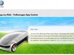 Screencap from Volkswagen's 'App My Ride' contest