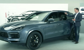 Screenshot from 2019 Porsche Cayenne design video