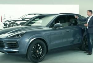 Screenshot from 2019 Porsche Cayenne design video