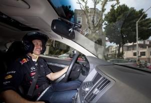 Sebastian Vettel, loose on the mean streets of Weehawken, New Jersey
