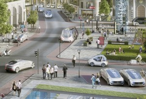 Self-driving taxi service envisioned by Mercedes-Benz and Bosch