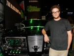Seth Rogen with Black Beauty (a Chrysler Imperial) from THE GREEN HORNET