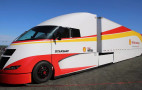 Shell Airflow Starship semi truck leaves San Diego on record fuel-economy run