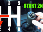 Should you start from a stop in second gear?