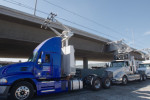 How about electric semis that draw power from overhead wires?