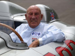 Sir Stirling Moss at the wheel of the 300 SLR
