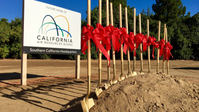 Site of new California Air Resources Board headquarters, Riverside, CA, Oct 2017