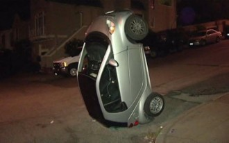 Another Downside Of The Smart Fortwo: Jerks Can Flip Your Car