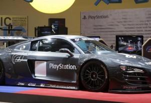 Sony PlayStation sponsored Audi R8 LMS race car