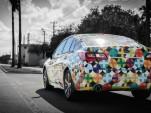 Specially wrapped 2015 Subaru Legacy by designer Mondo Guerra (photo: Nick D'Amico & Dana Slifer)