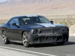 Spy shots of a 2015 Dodge Challenger SRT powered by the 'Hellcat' supercharged HEMI V-8