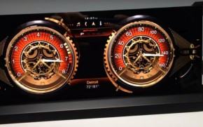 Steampunk OLED instrument cluster from Visteon