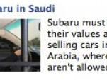 Stop Subaru in Saudi Facebook Ad