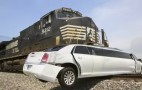 Stretch Limo Hit By Train, No Injuries Reported: Video