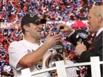 Super Bowl XLV MVP, Aaron Rodgers, gets keys to a 2011 Chevy Camaro convertible
