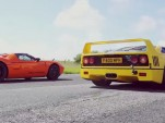 Supercars face off in amazing series of drag races