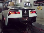 Supercharged Hennessey HPE700 Corvette Stingray on the dyno