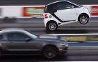Who Needs A Big Block? Supercharged Smart Car Does Wheelies, Whips Mustang