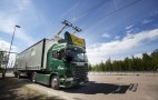 Road for electric trucks with trolley-like catenary opens in Sweden