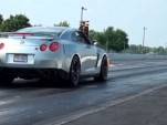 ShepTrans Nissan GT-R at the drag strip