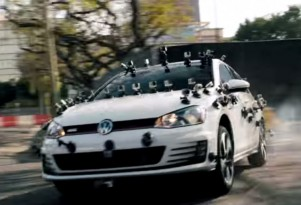 Tanner Foust hoons a GoPro-covered Volkswagen Golf GTI
