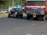 Tata Nano Diesel prototype seen on the road in India - spy photo by Indian Autos Blog