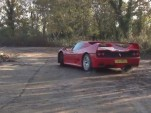 Tax The Rich drifts a Ferrari F50.