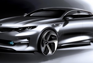 Teaser for 2016 Kia Optima debuting at 2015 New York Auto Show