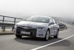 Teaser for 2017 Opel Insignia Grand Sport debuting at 2017 Geneva auto show